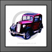 Austin 7 Ruby Framed Print