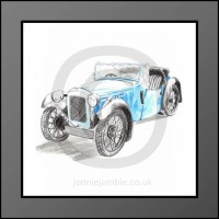 Austin 7 Nippy Framed Print