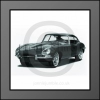 E Type Jaguar Framed Print